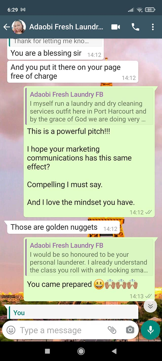 marketing a laundry business
